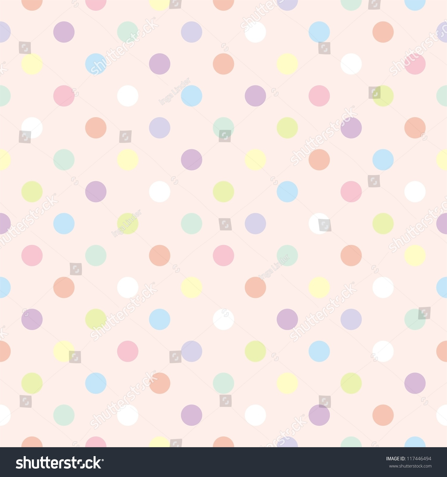 Colorful Vector Background Polka Dots On Stock Vector ...