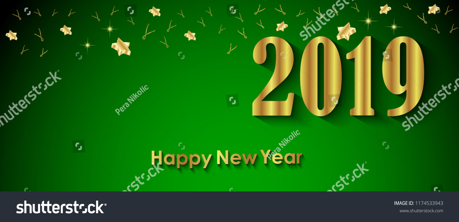 2019 happy new year background for and greetings card or christmas themed invitations