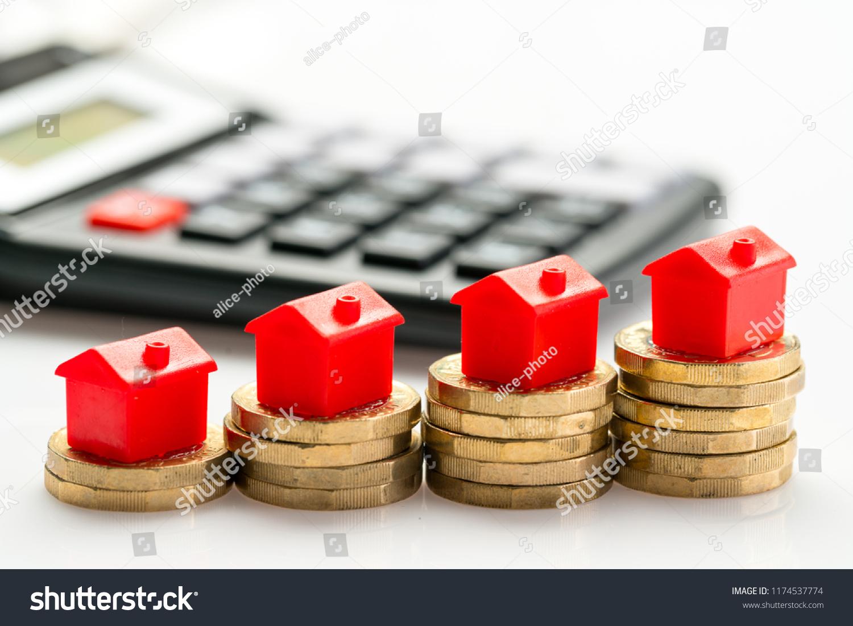 Housing Estate Concept Coins Studio Stock Photo (Edit Now) 1174537774