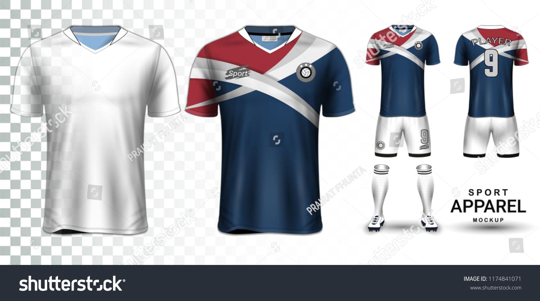 d556c7d6a82 Soccer Jersey Football Kit Presentation Mockup Stock Vector (Royalty ...