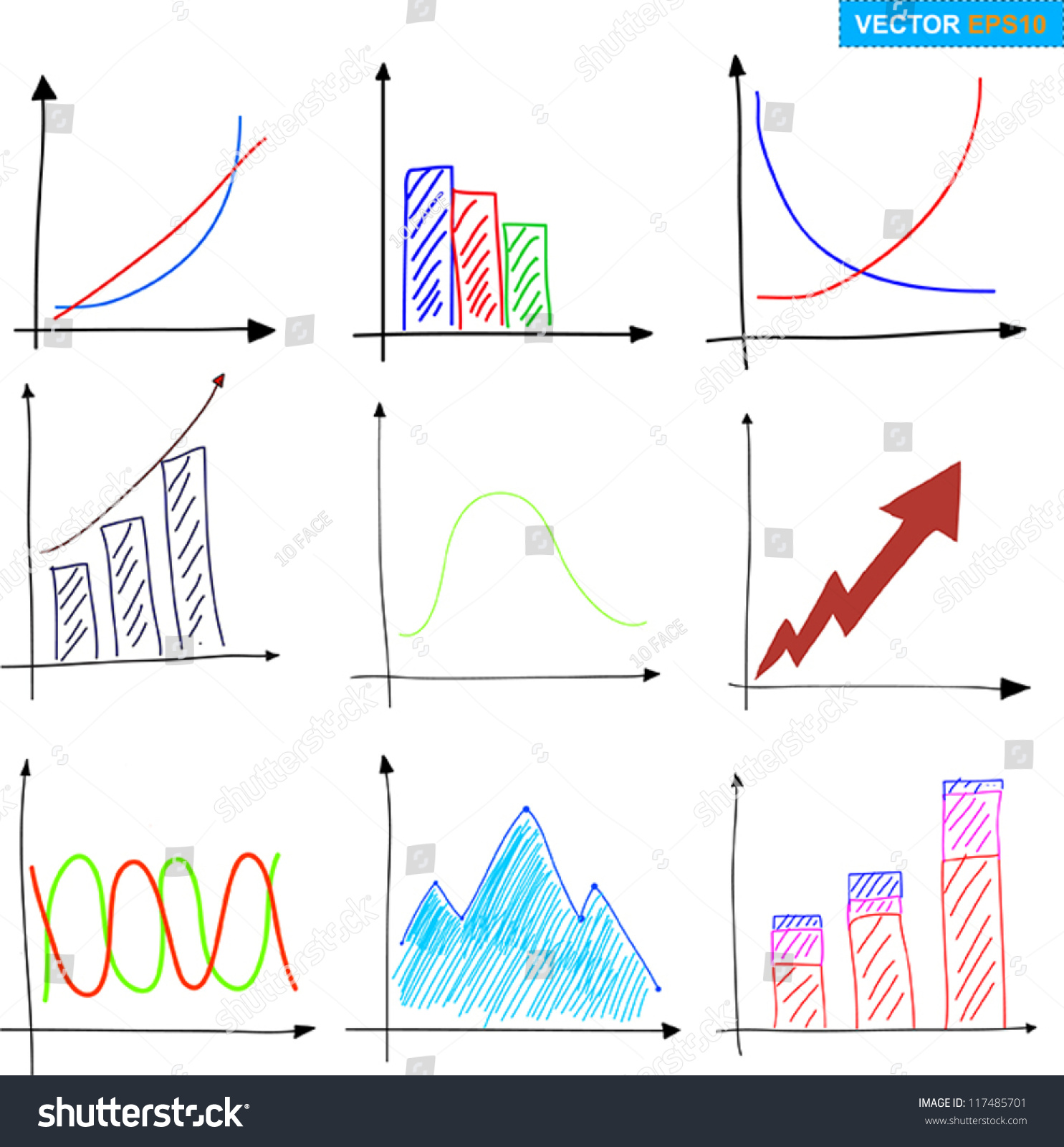 Drawing Line Graphs By Hand : Drawing graph stock vector shutterstock