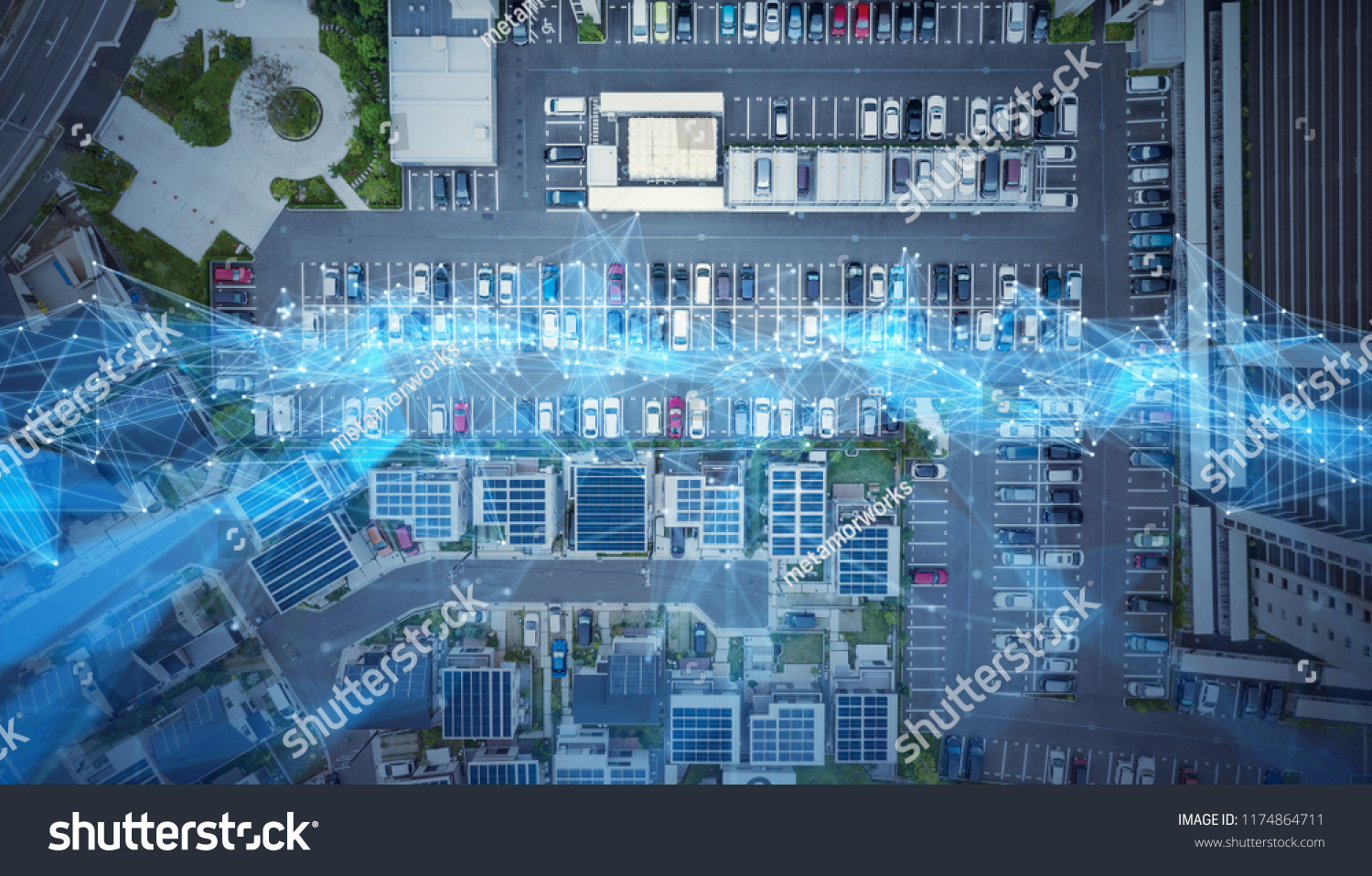 Social Infrastructure Communication Technology Concept Iotinternet Buildings Landmarks Stock Image 1174864711