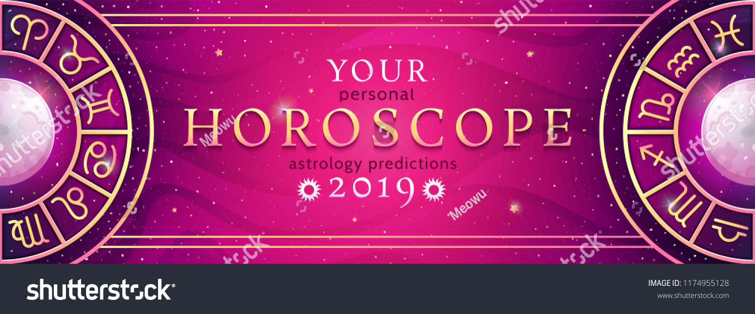 Your Personal Horoscope Prediction 2019 On Stock Vector Royalty Free 1174955128
