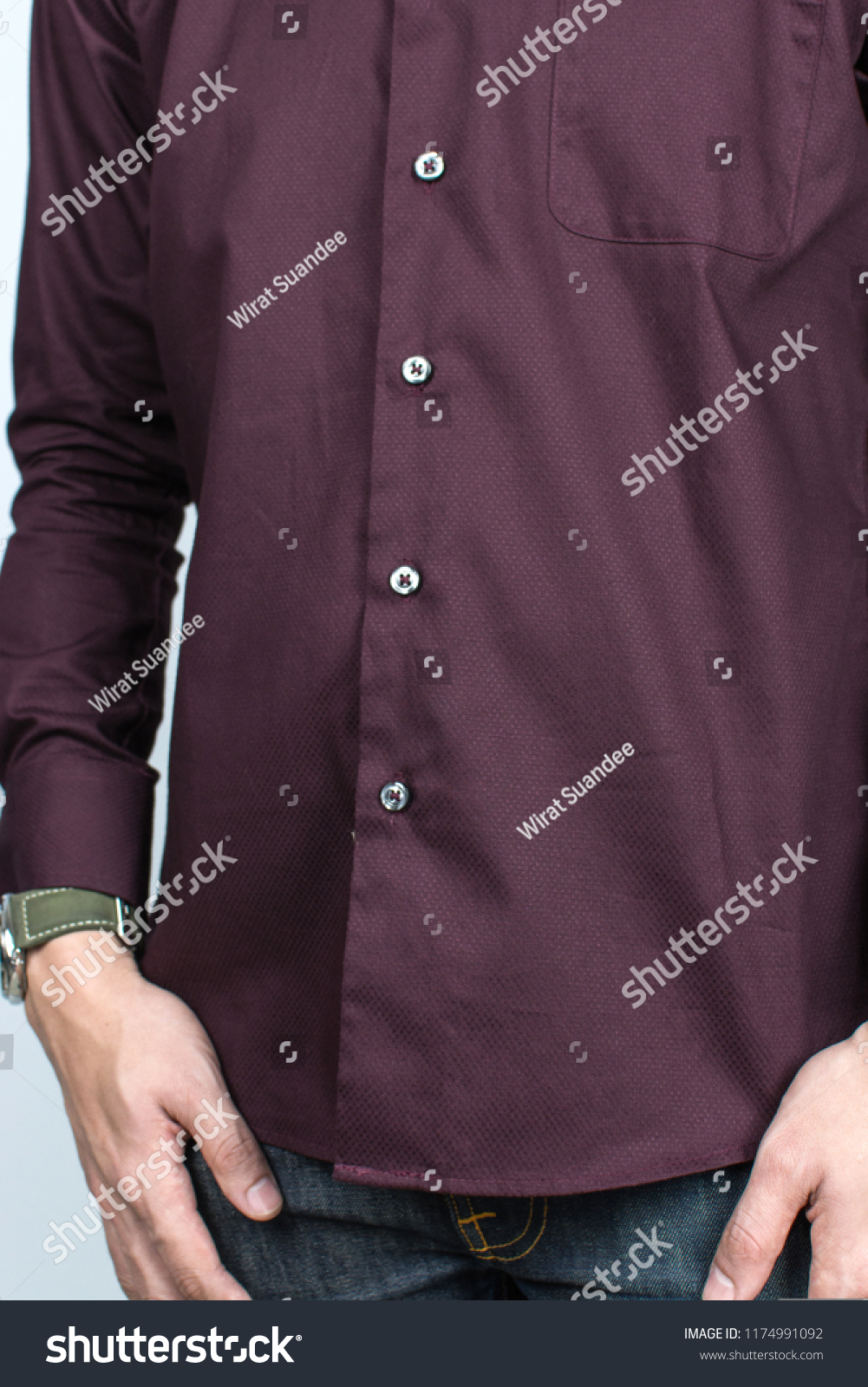 bc86dc6176563 Stock photo shirt design model of men shirts set people concept closeup of  young man in