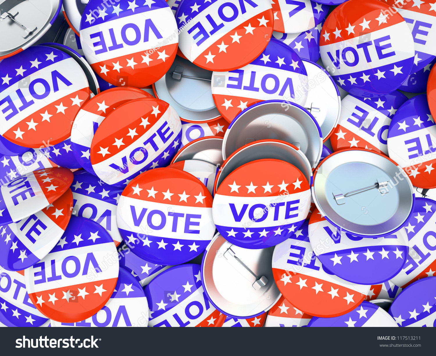 Vote Buttons Stock Illustration 117513211 - Shutterstock