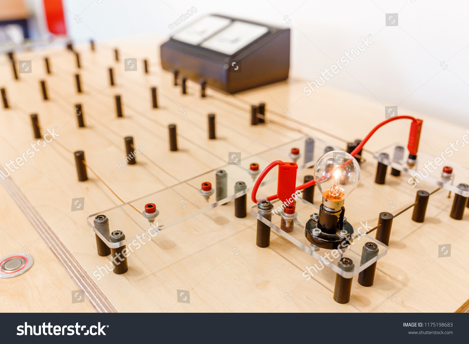 School Experiment Electric Circuit Light Bulb Stock Photo Edit Now With And A Physics Education