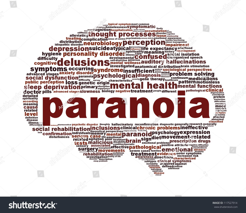 Paranoia Mental Health Symbol Design Psychological Stock