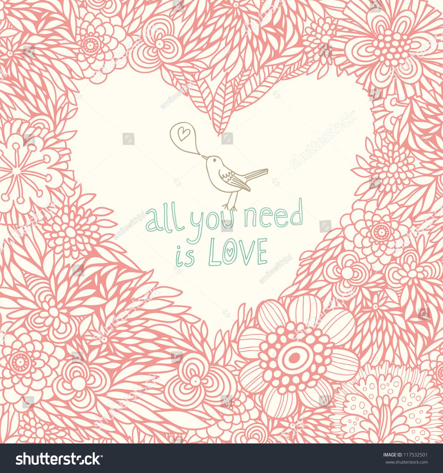 Romantic Wallpaper Cute Floral Background Vintage Stock ...