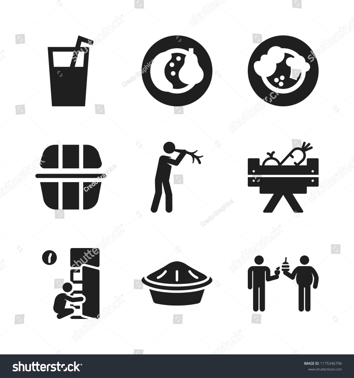 Apple Icon 9 Apple Vector Icons Stock Vector (Royalty Free
