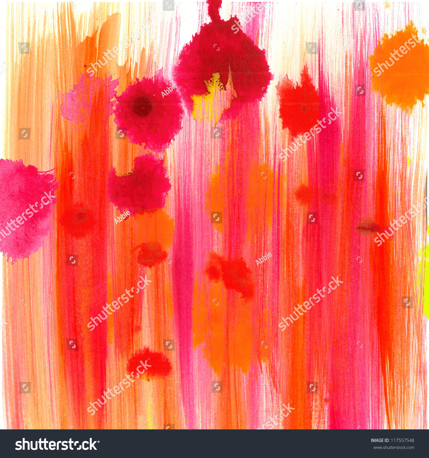 abstract fun background  pink orange drops or color