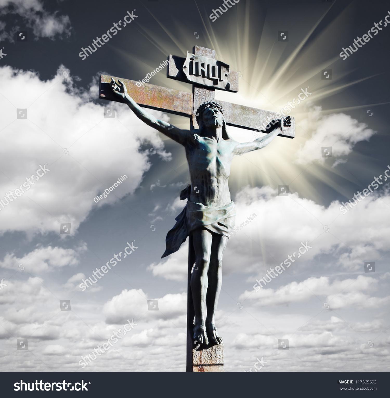 crucifixion jesus christ sky sun stock photo 117565693 shutterstock