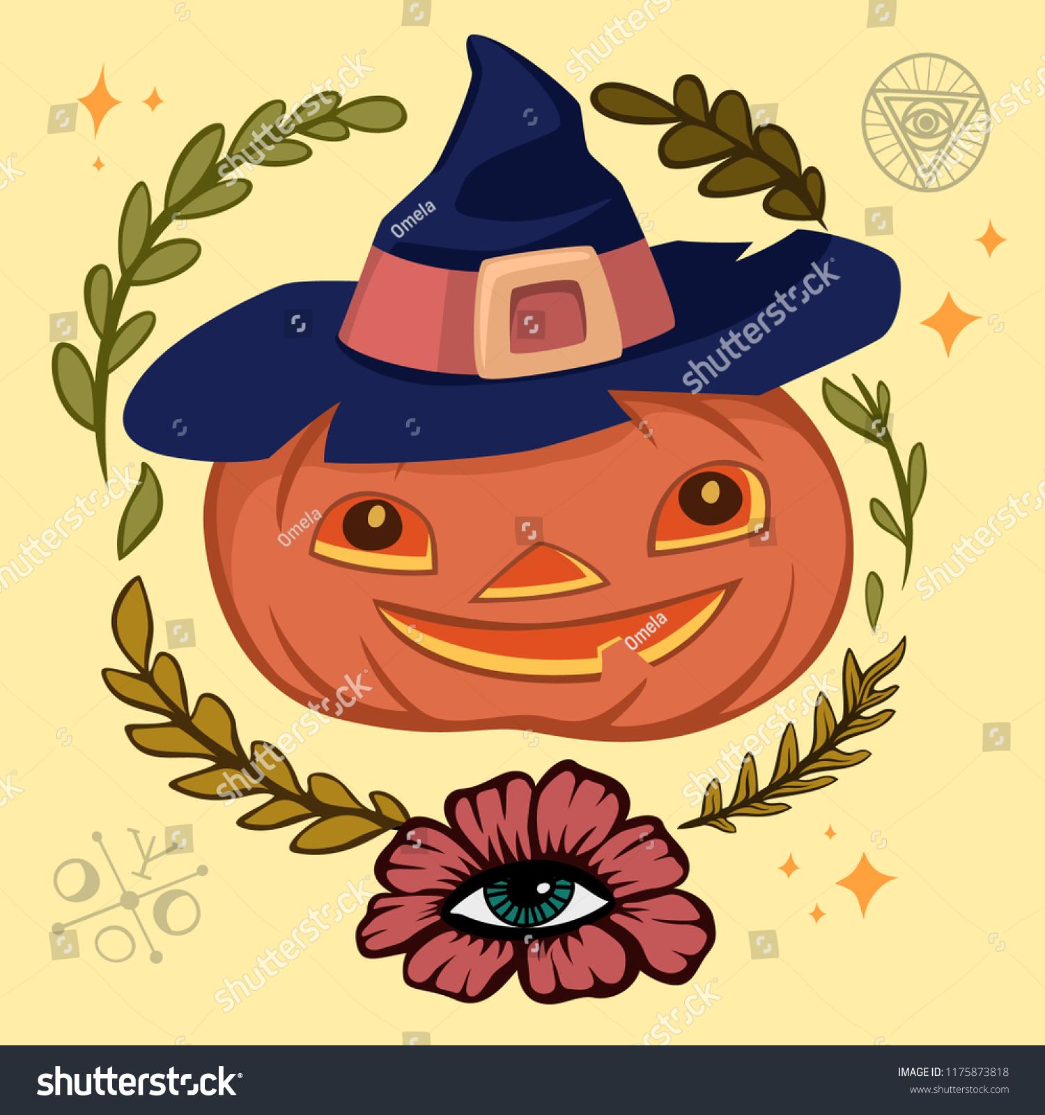 halloween jacko lantern pumpkin scary face vector stock vector