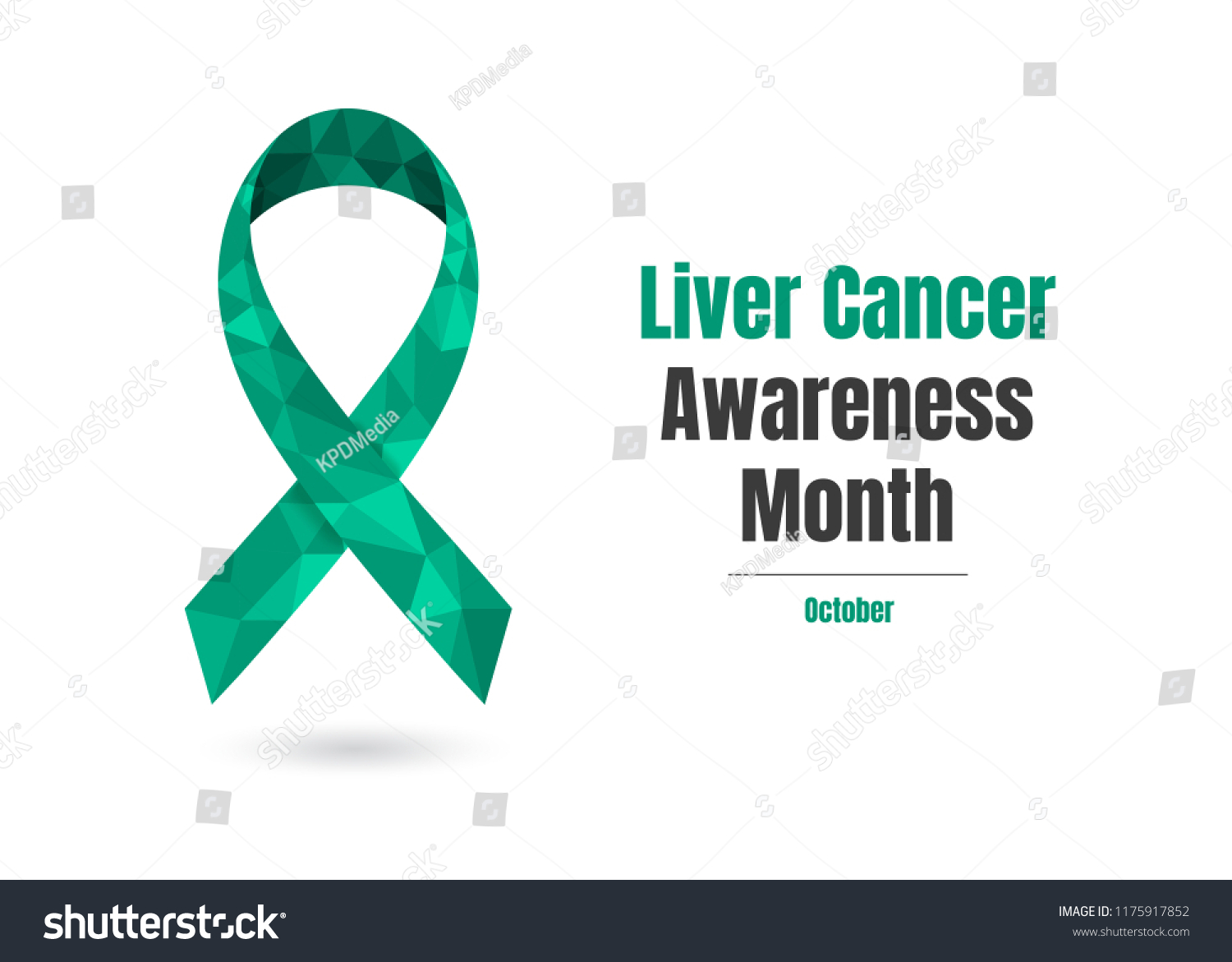 Liver Cancer Awareness Month October Concept Stock Vector Royalty