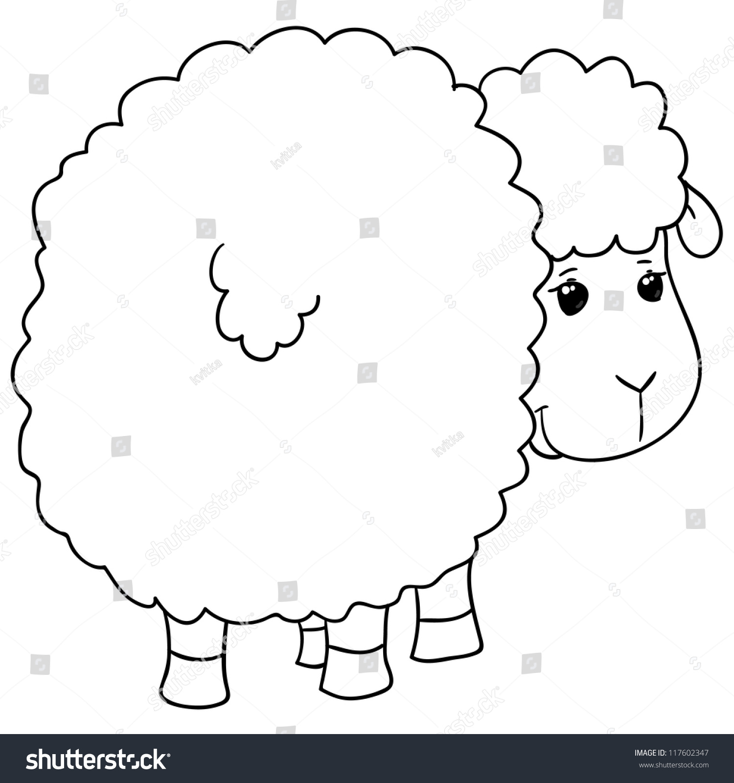 coloring pictures sheep : Sheep Coloring