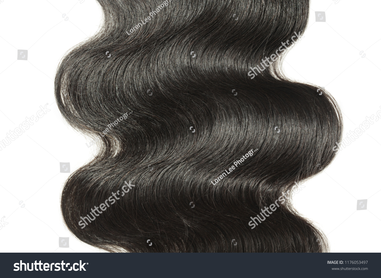 Middle Part Body Wavy Black Human Stock Photo Edit Now 1176053497
