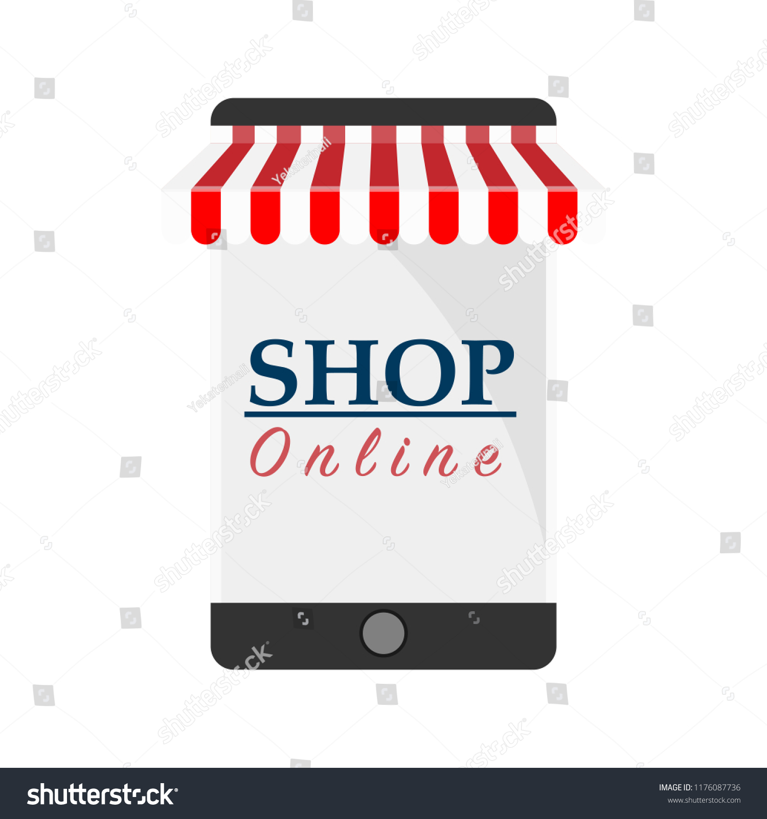 Online trade icon. Semi-annual sale. Shop online. Weekend specials. discount 066386e5ff4