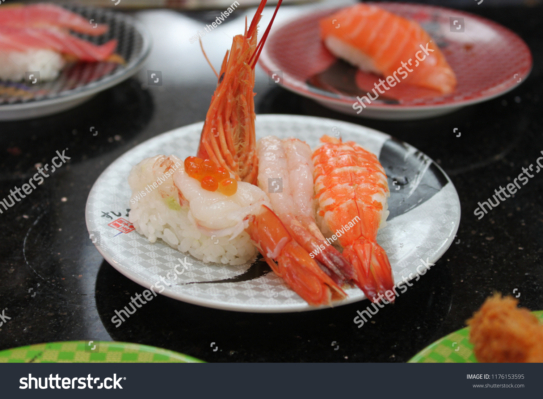 Raw Boil Ebi Shrimp Sushi Sushi Stock Photo Edit Now 1176153595