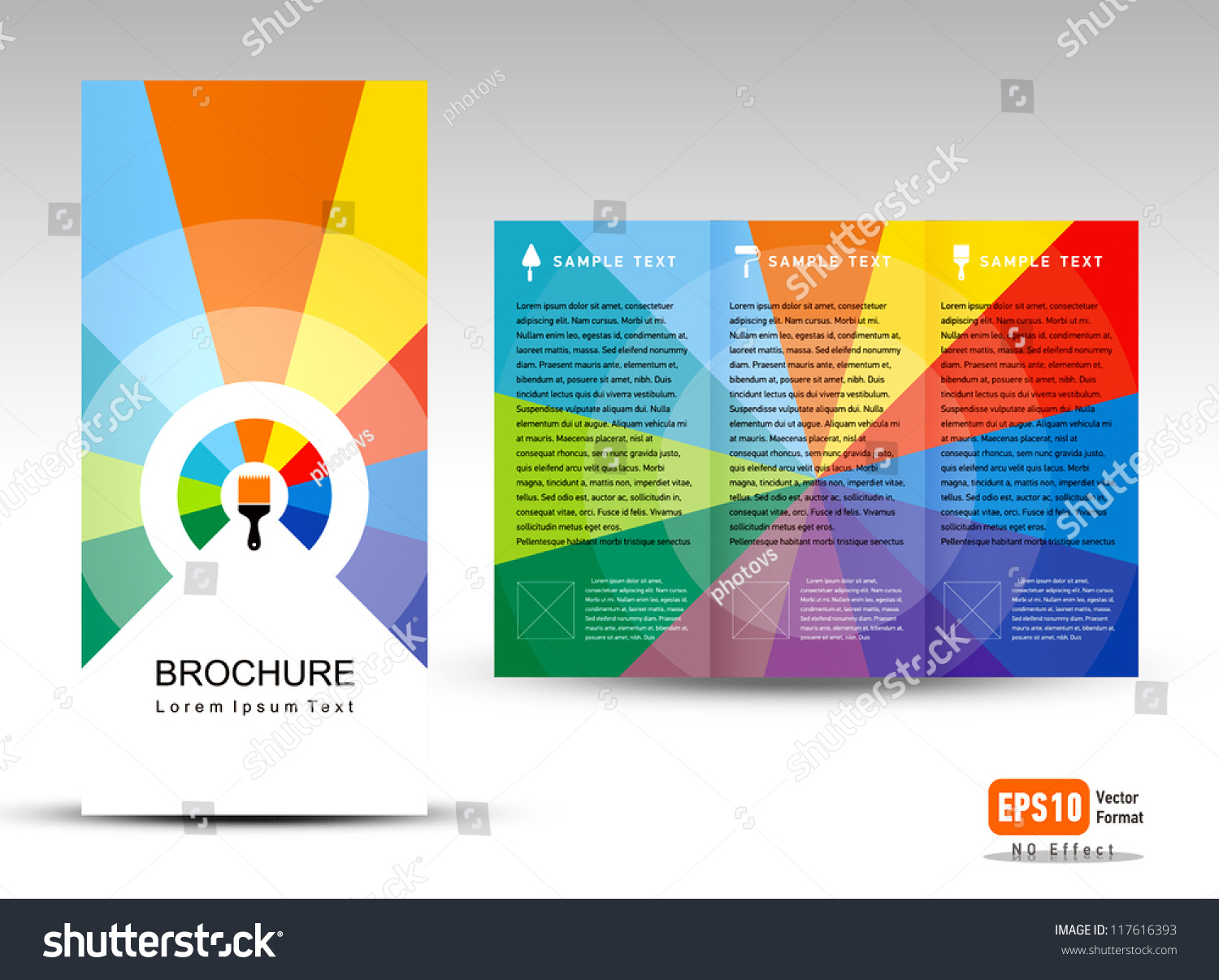 Creative design vector brochure trifold layout stock for Creative brochure template