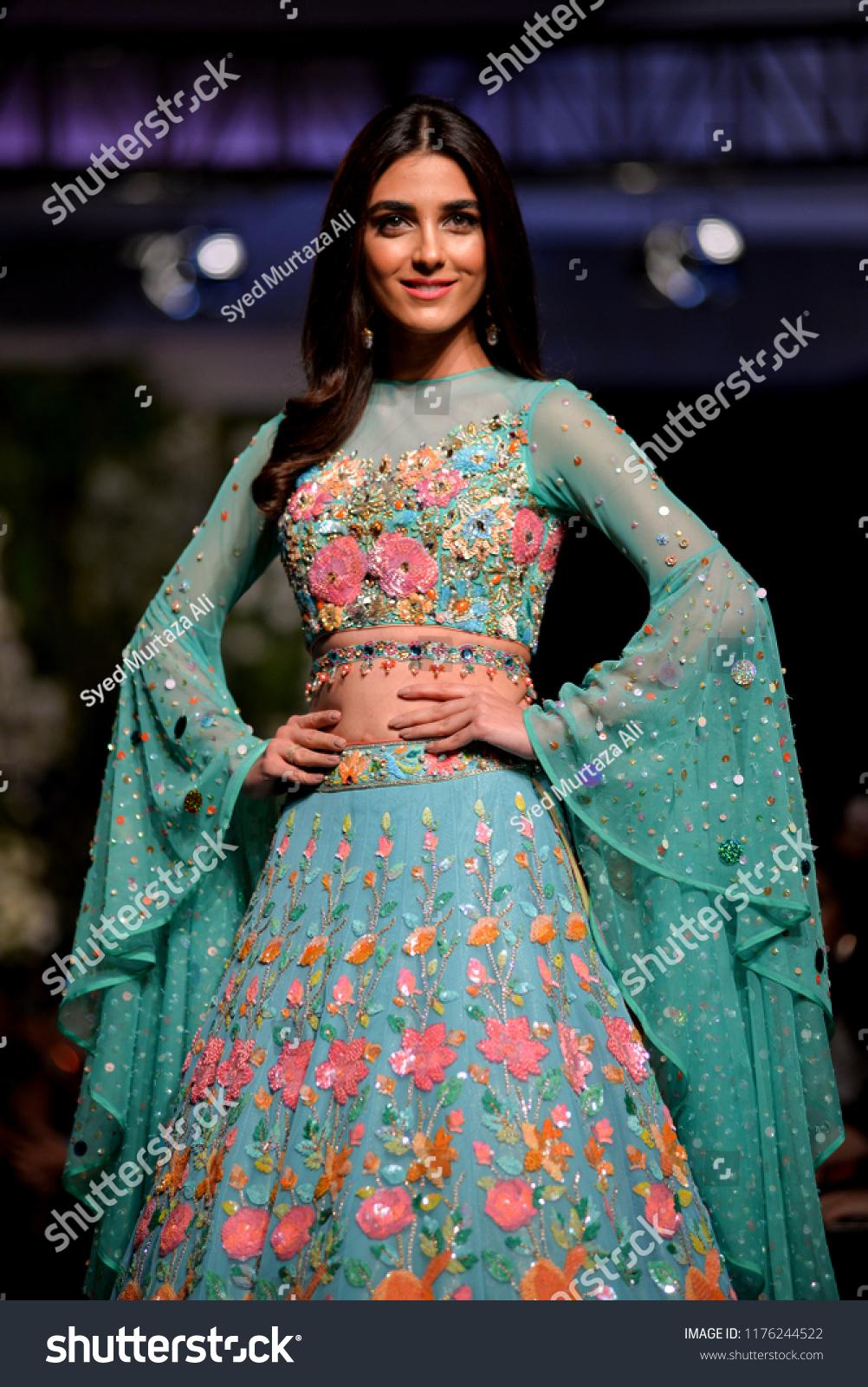 Pakistanlahore Models Presents Creation Pakistani Designer Stock Photo Edit Now 1176244522