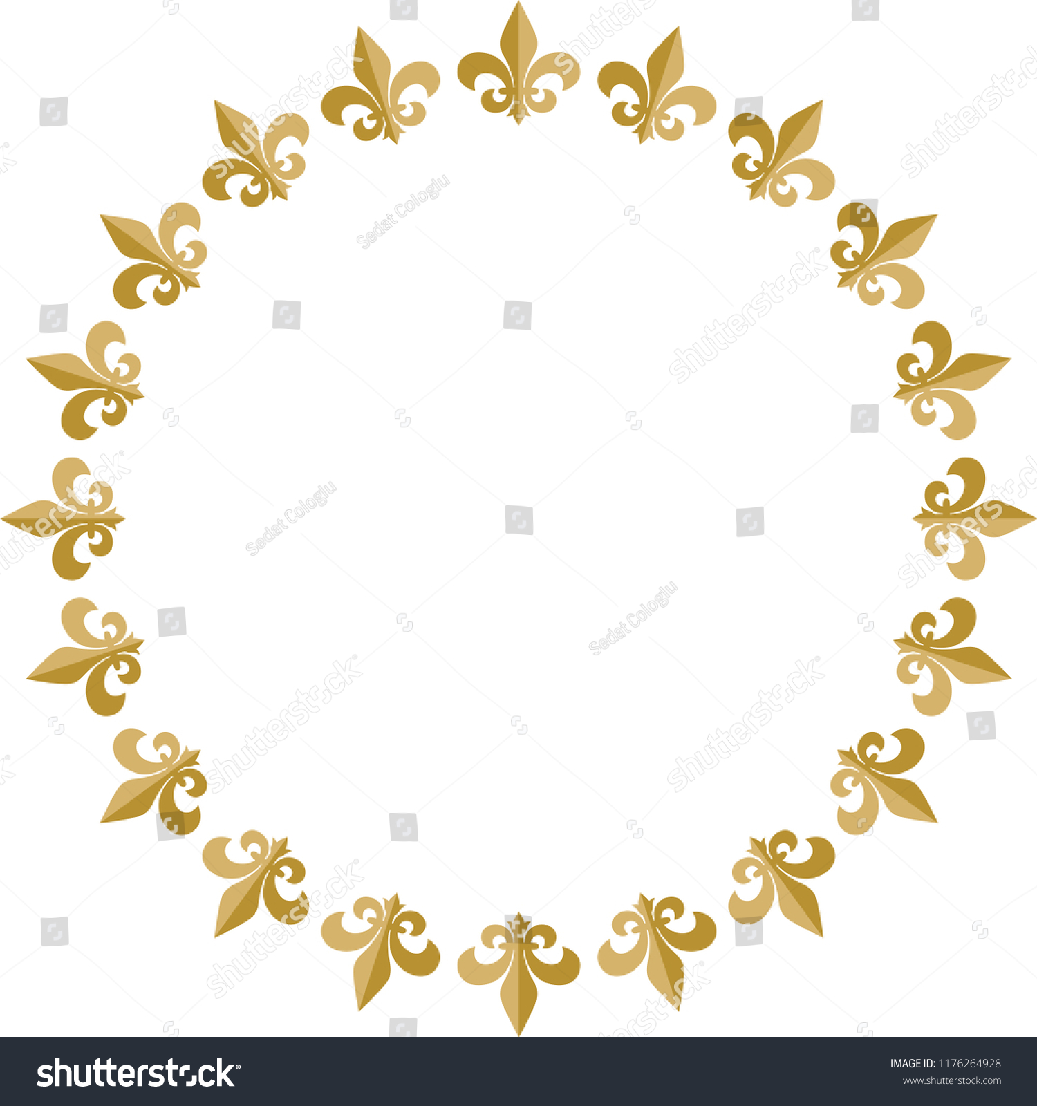 Fleur De Lis Vector Drawing Logo Stock Vector Royalty Free