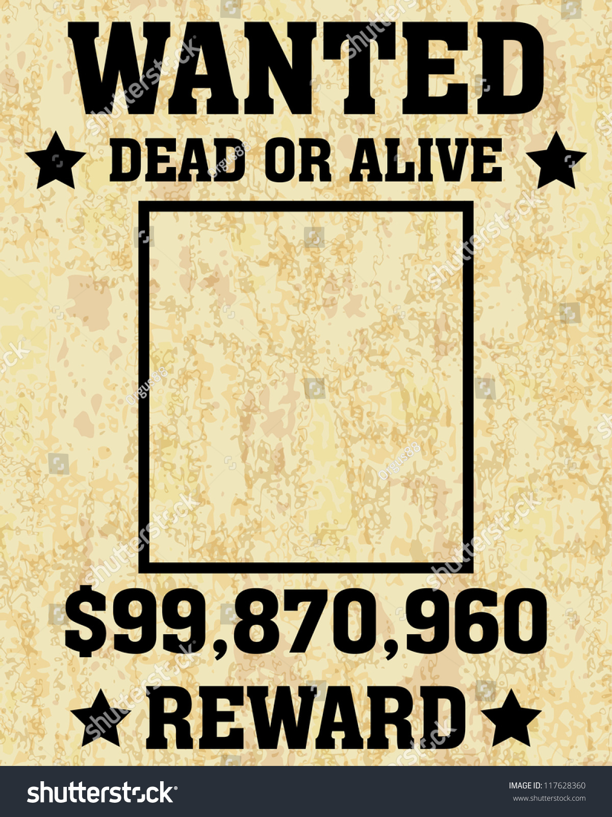 Old Wanted Posters Vector Wanted Poster Vector 117628360 – Picture of a Wanted Poster