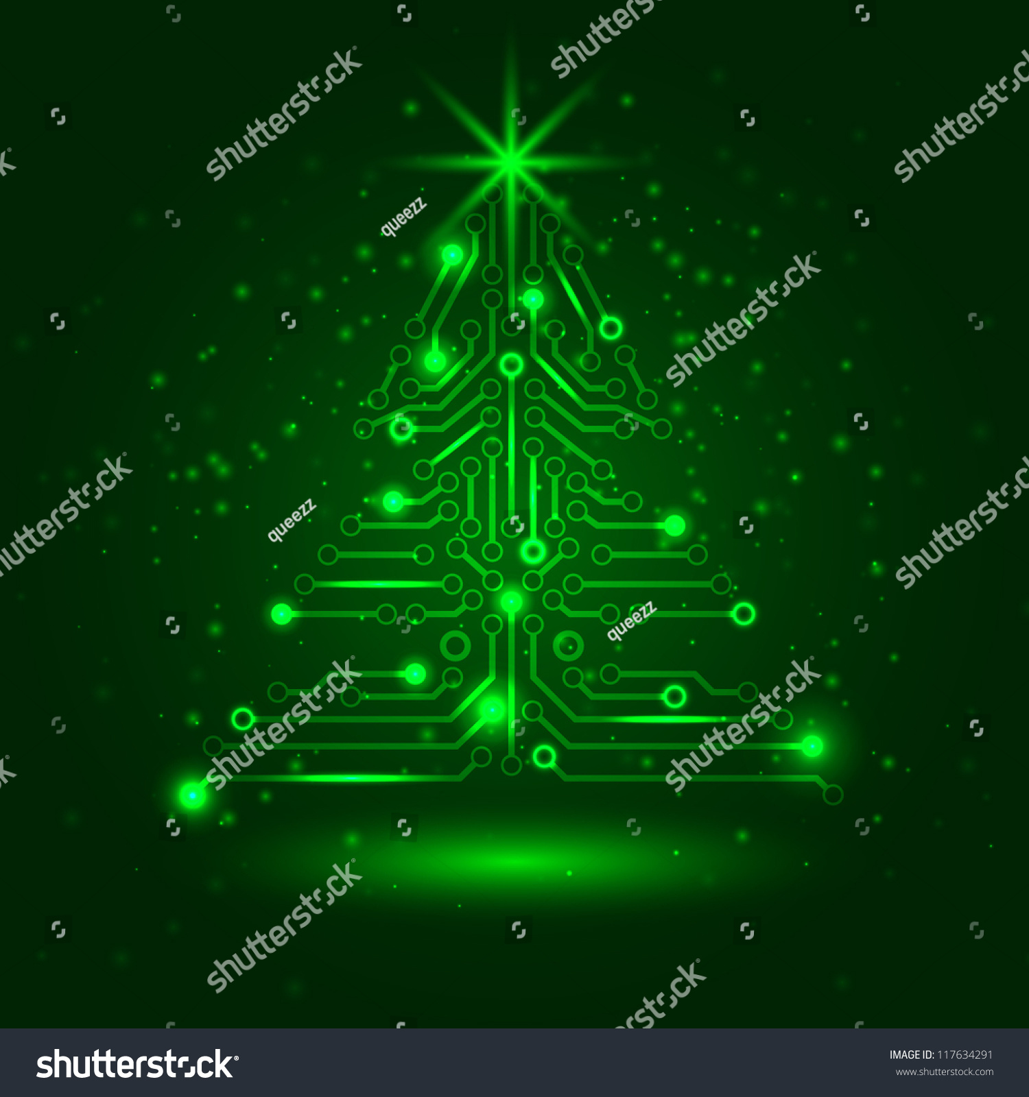 Vector Circuit Board Electronic Tree Digital Tec Stock Photo Image 34279490 Abstract Technology Christmas 117634291 Shutterstock