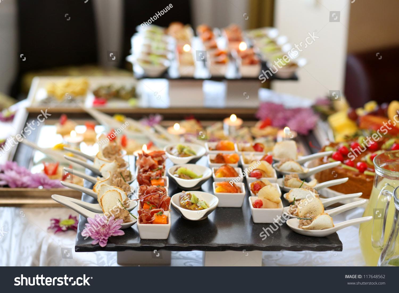 Luxury Food Drinks On Wedding Table Stock Photo 117648562 Shutterstock