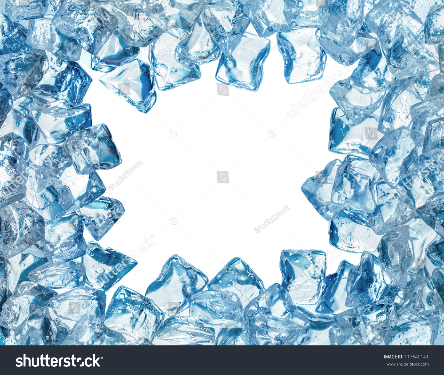 Ice Cool Frame Water Drops Isolated Stock Photo (Royalty Free ...