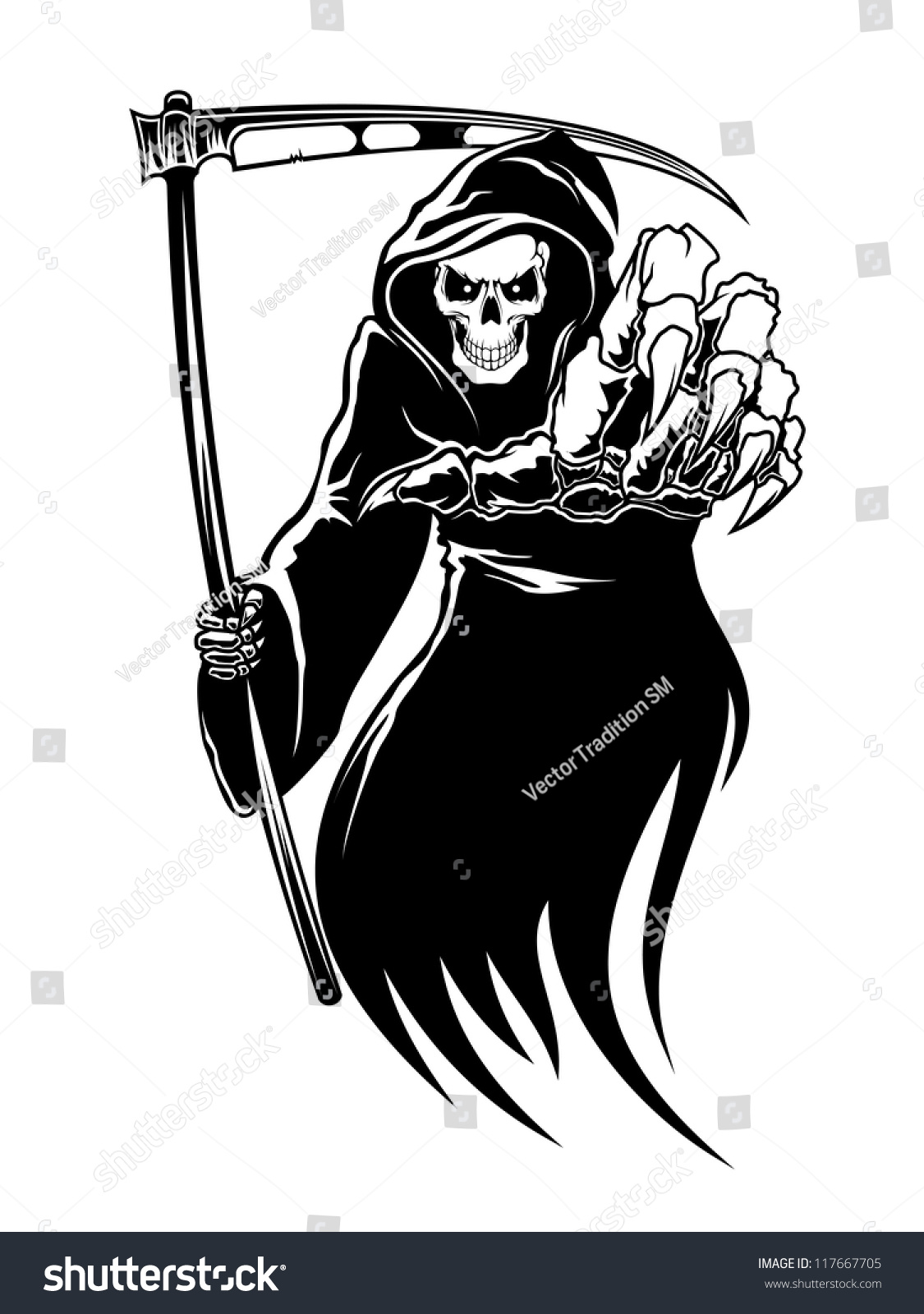 Black plague grim reaper