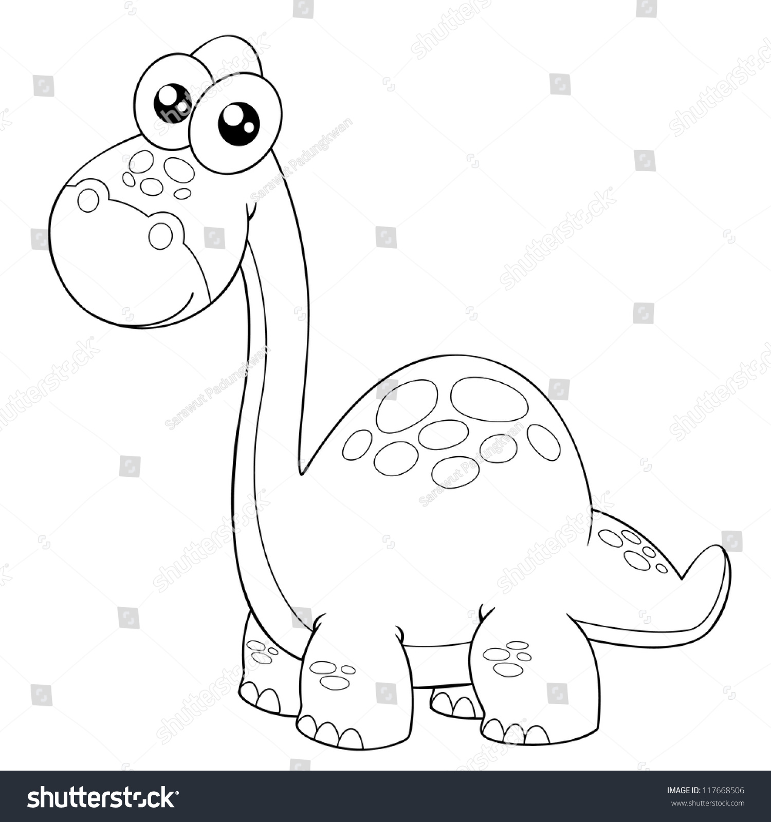 Gallery For gt Simple Brontosaurus Outline