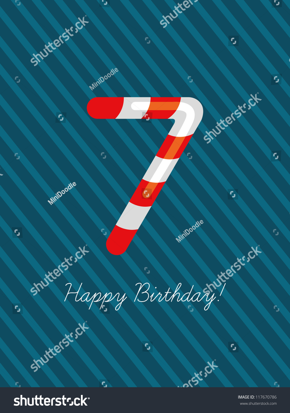 Old number seven pictures to pin on pinterest thepinsta birthday card seven years old number hexwebz Image collections