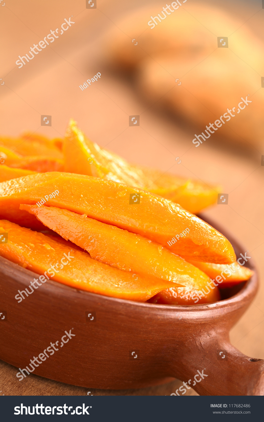 Sweet potato wedges caramelized with brown sugar and fresh orange ...