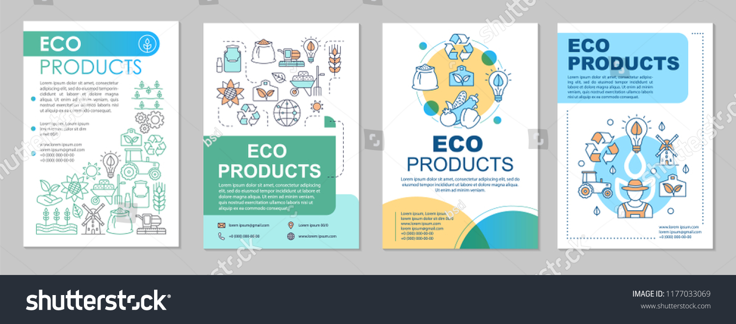 Eco Products Brochure Template Layout Ecological Stock Vector