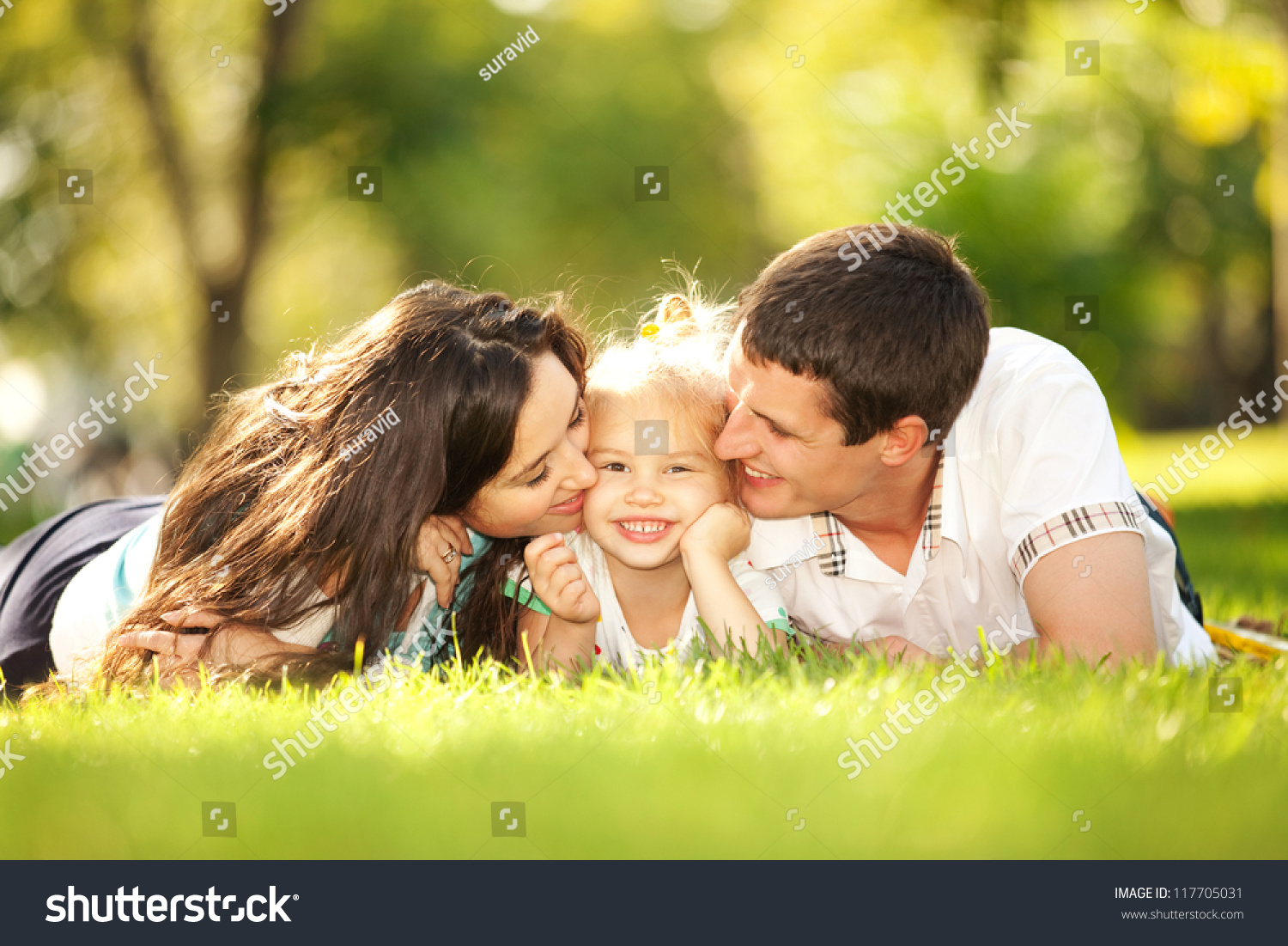 Happiness Harmony Family Life Happy Family Stock Photo