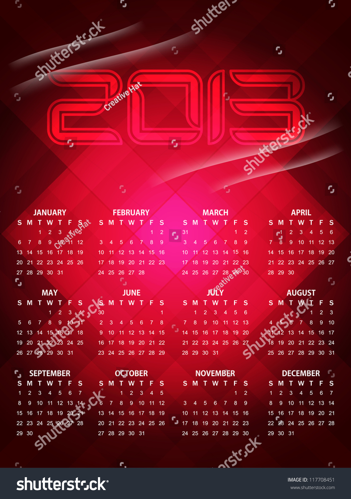 Beautiful Calendar Design : Beautiful calendar design for stock vector
