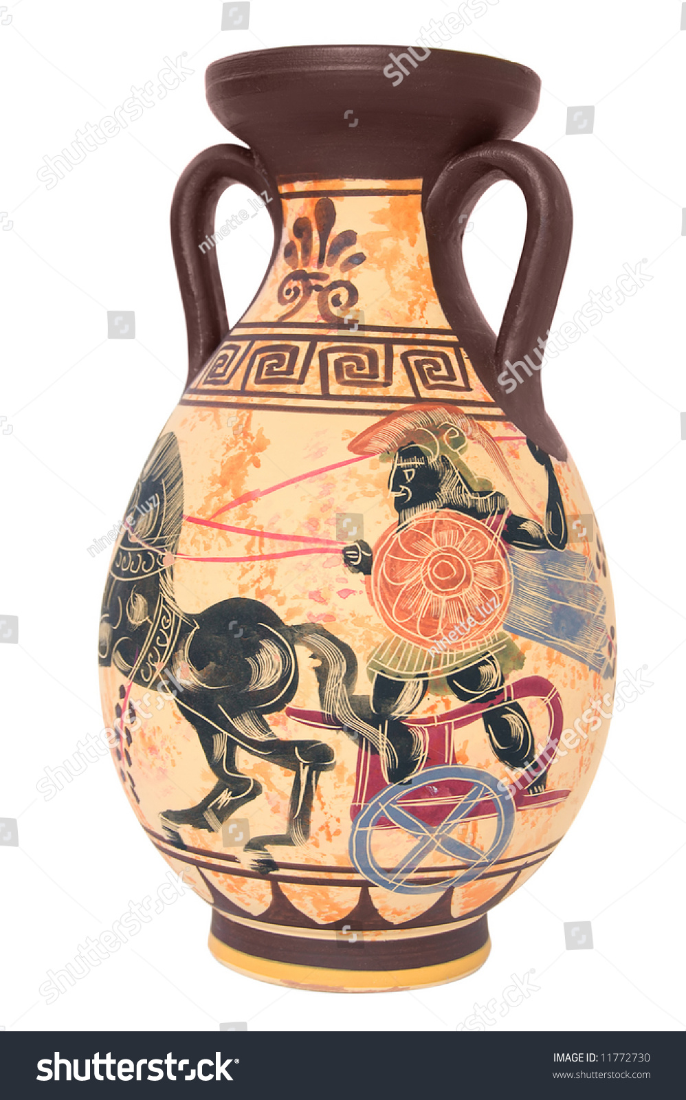 Ancient greek vase isolated on white stock photo 11772730 ancient greek vase isolated on white background reviewsmspy