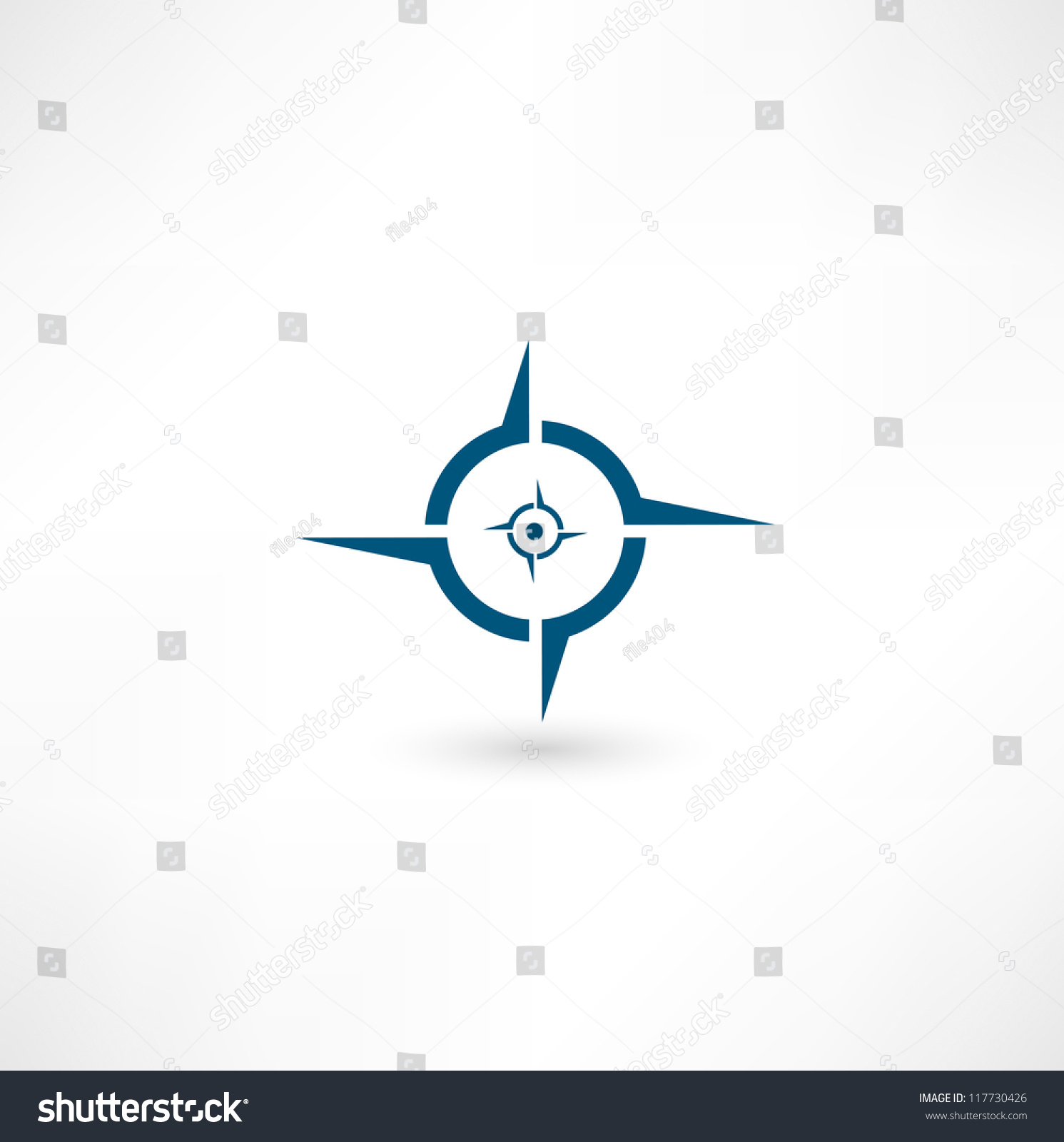 Compass Icon Stock Vector 117730426 Shutterstock