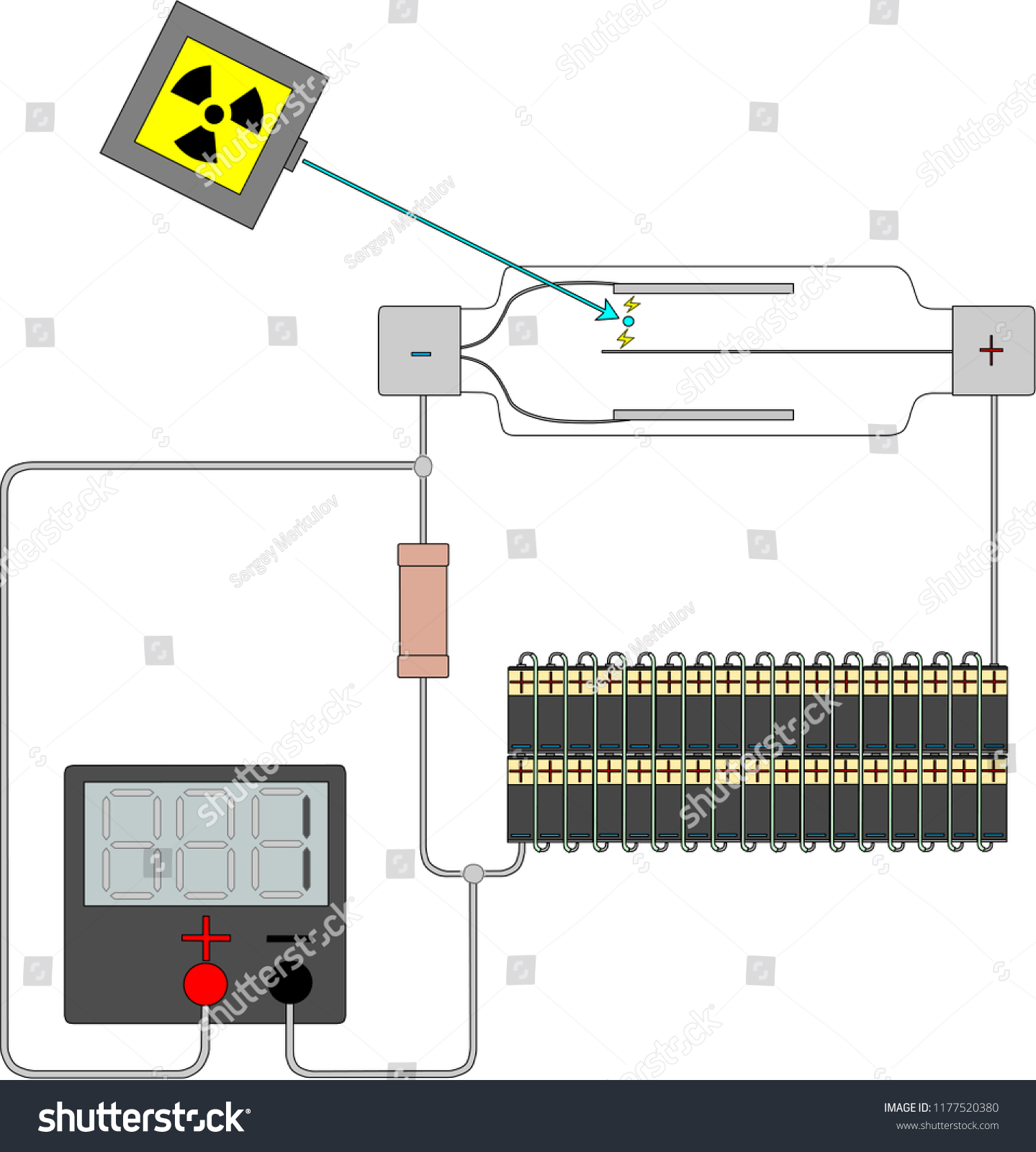 Geiger Counter Tube Stock Vector Royalty Free 1177520380 Diagram