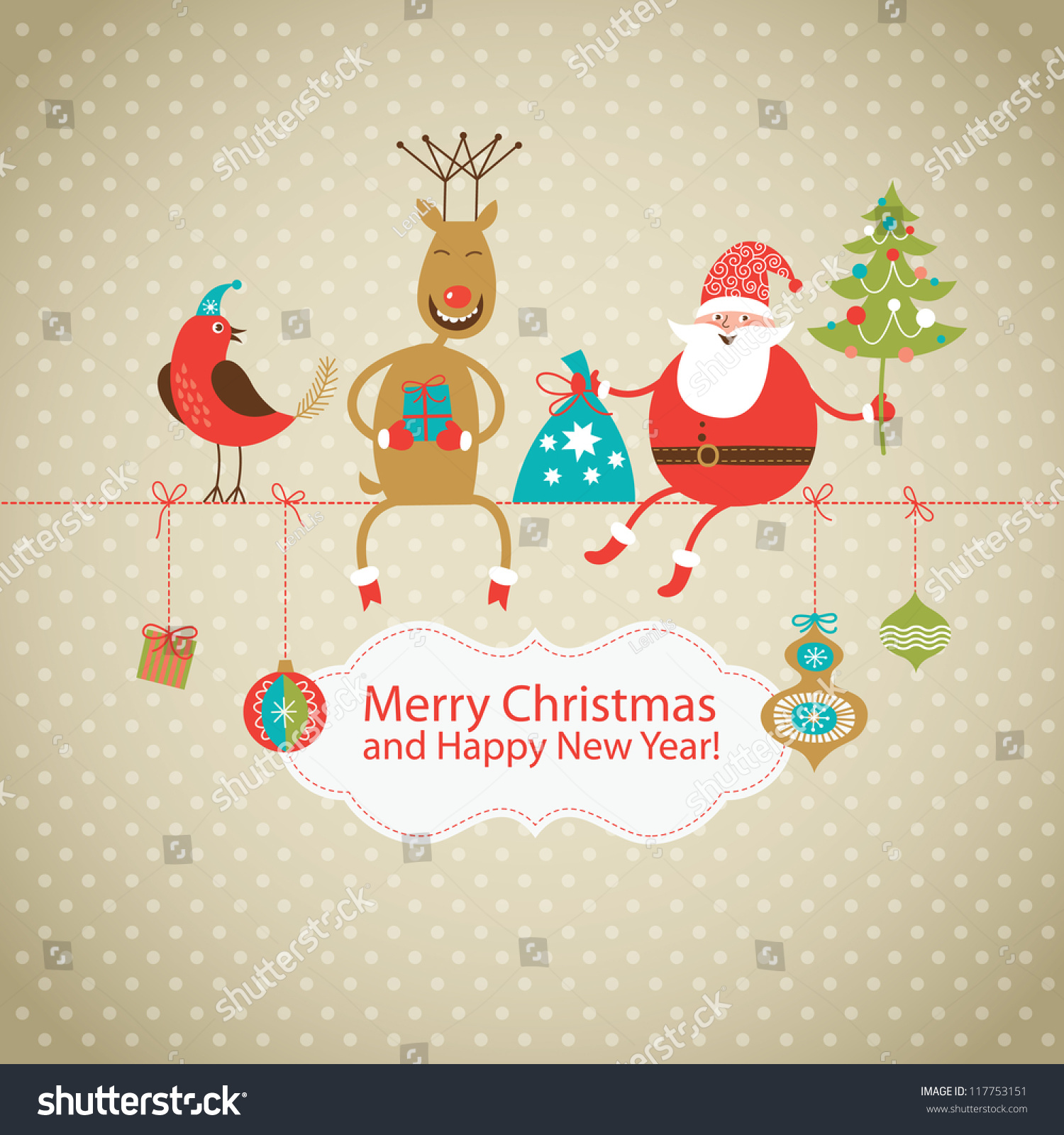 how to make christmas tree and santa claus