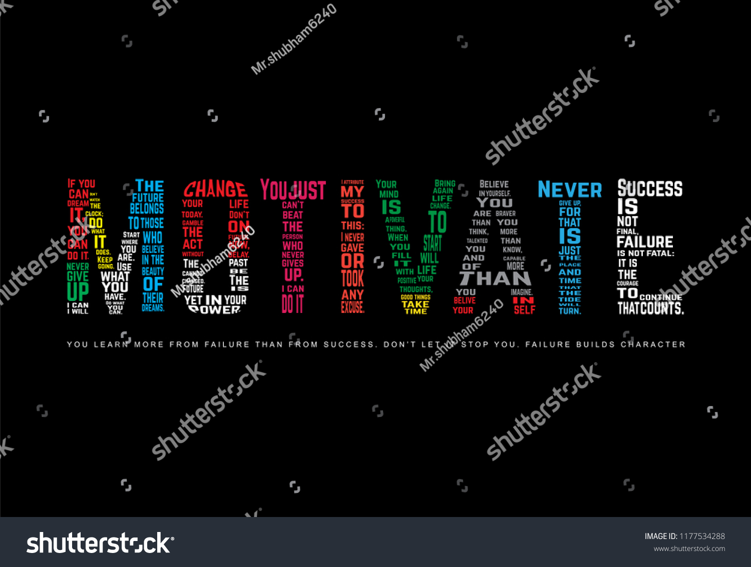 Motivational Quote Motivate Stock Vector (Royalty Free