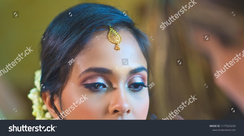 Gorgeous Indian Bride Eye Makeup Detail Stock Photo Edit Now