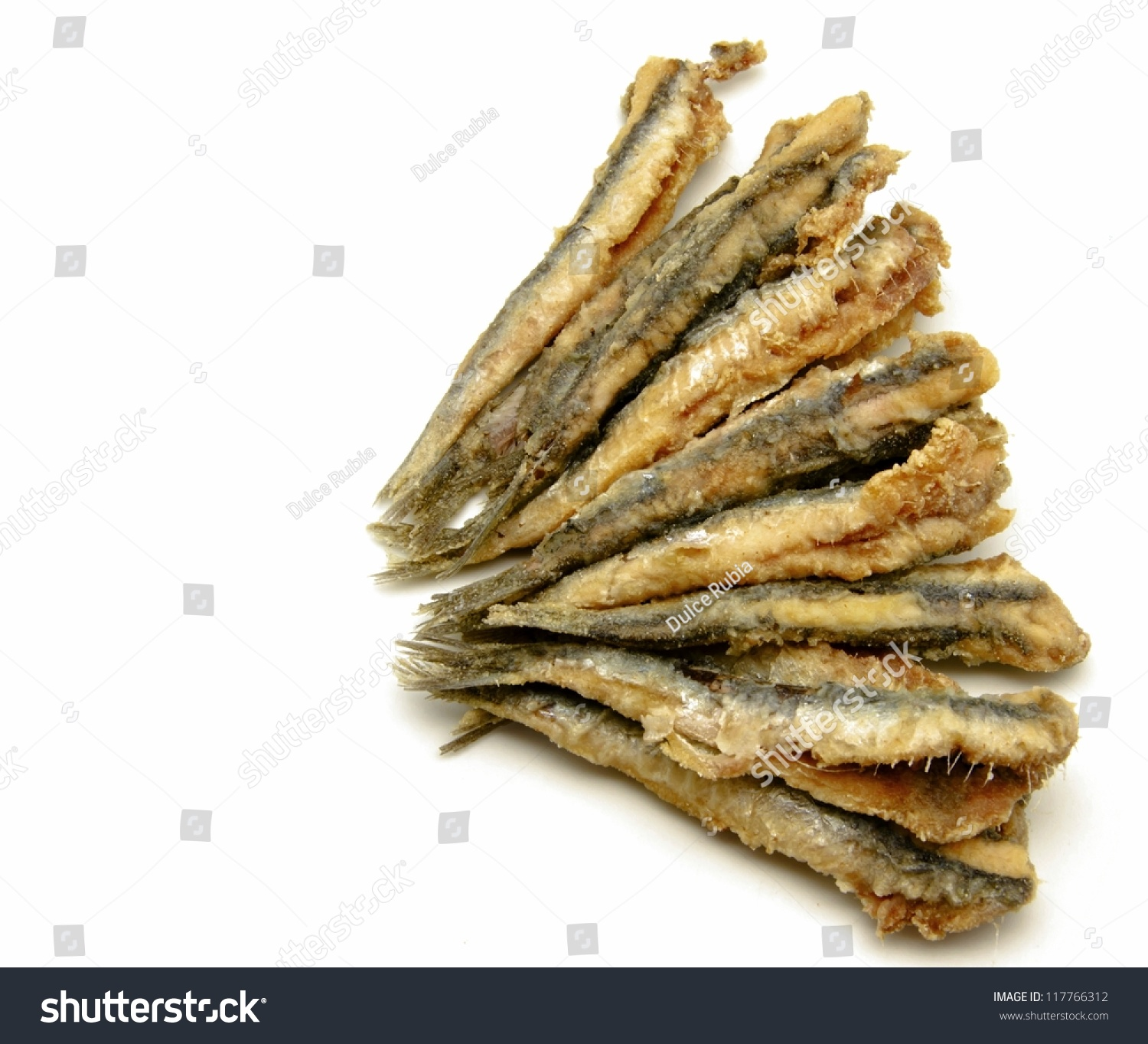 Fried Anchovies Typical Of Spain Stock Photo 117766312 : Shutterstock