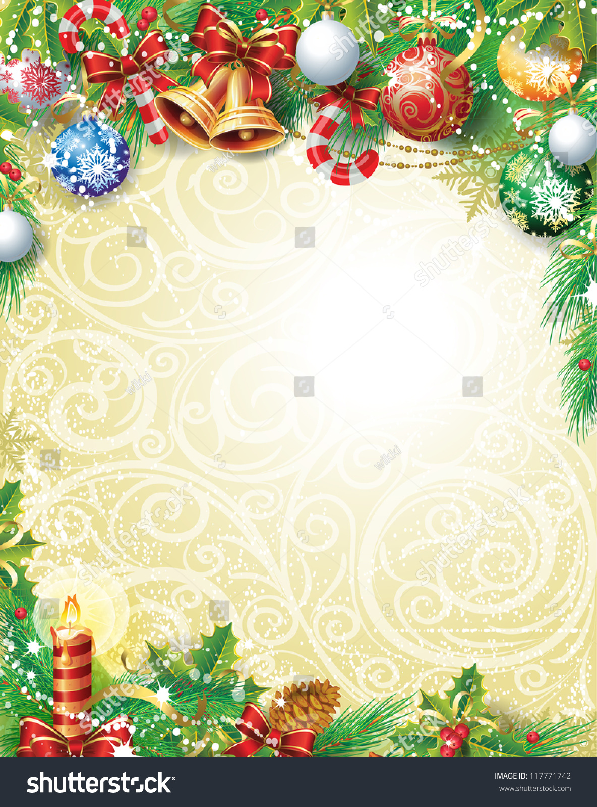 Vintage Christmas Background Stock Vector (Royalty Free) 117771742 ...