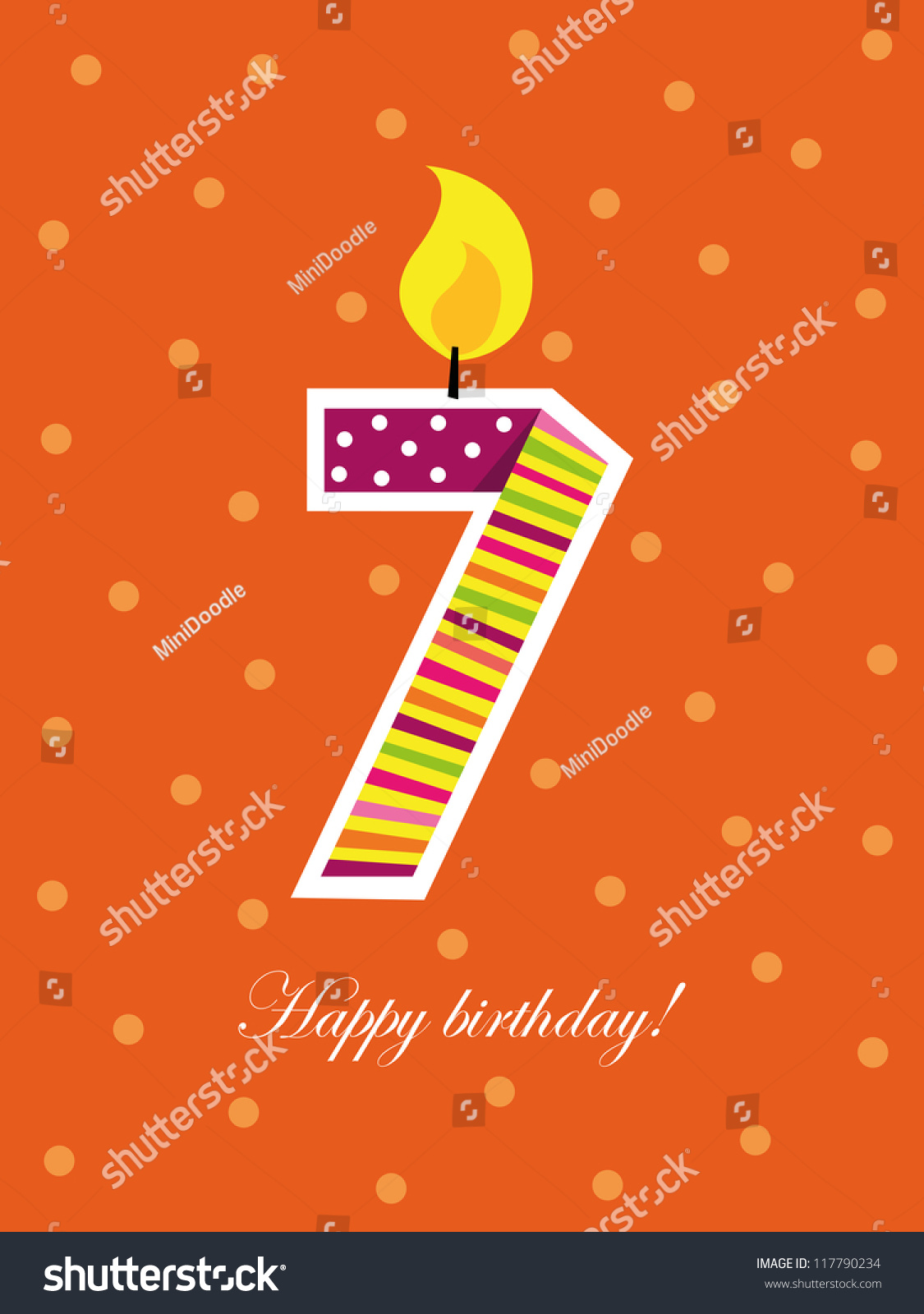 Old number seven pictures to pin on pinterest thepinsta colorful birthday card seven years old number 1125x1600 hexwebz Image collections