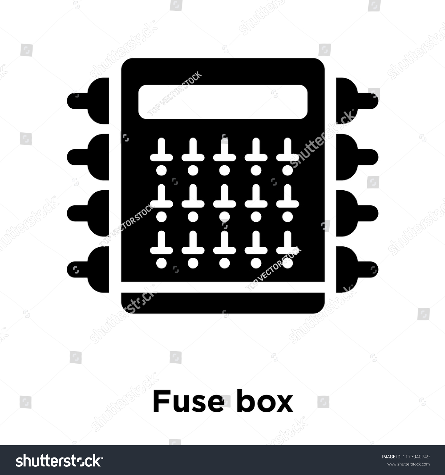 Fuse box icon vector isolated on white background, logo concept of Fuse box  sign on