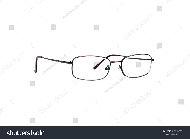 80d54cce36 stylish eyeglasses on the white background. Isolated on white. Medicine