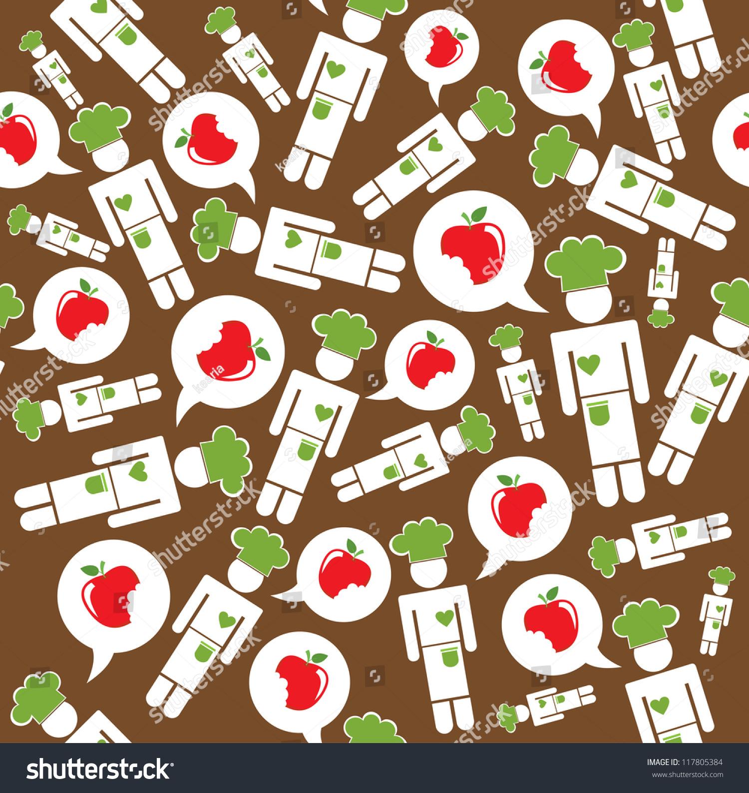 Kitchen seamless pattern design vector illustration for Kitchen design vector