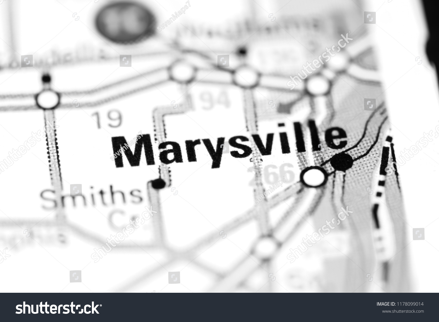 Marysville Michigan Map.Marysville Michigan Usa On Map Stock Photo Edit Now 1178099014