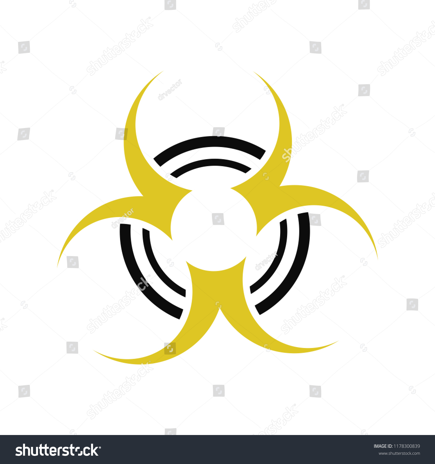 hazard icon dangerous symbol - biohazard symbol symbol - danger sign #1178300839