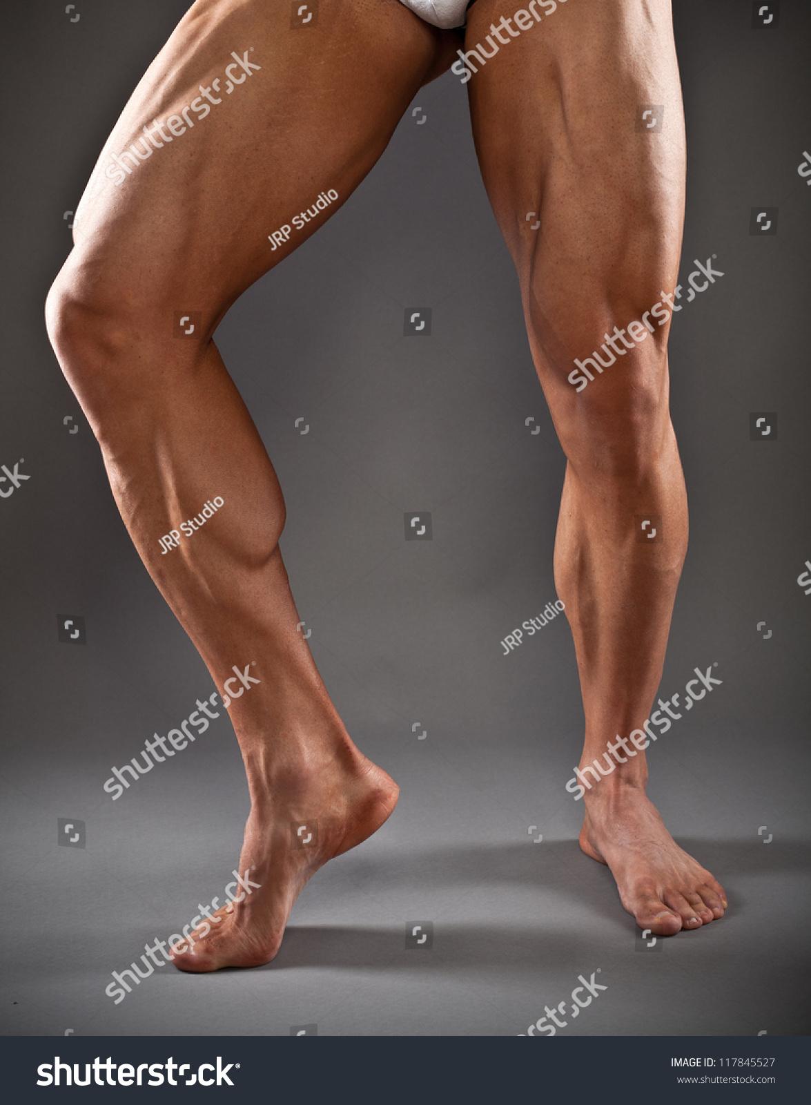 Muscular Male Legs Stock Photo 117845527 - Shutterstock-4180